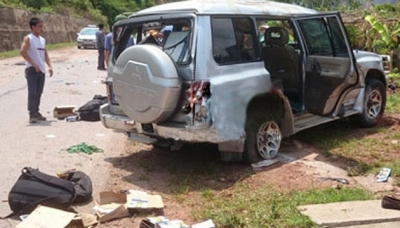 Xe ô tô lên Điện Biên nổ lốp, 3 cán bộ công an tử nạn