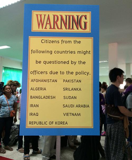 du lịch, du lịch Thái Lan, sỉ nhục, cửa khẩu Arayaprathet