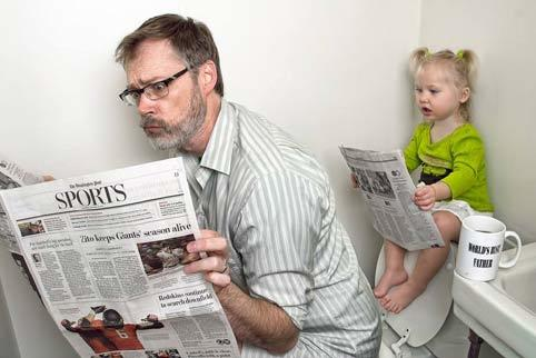 người cha, cha con, Dave Engledow, ông bố hài hước