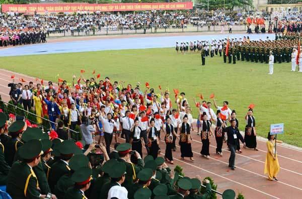 diễu binh, Điện Biên Phủ, chủ quyền, Chủ tịch nước, Trương Tấn Sang