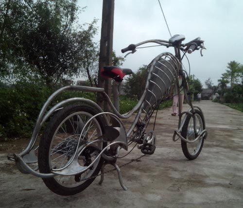 Nam-định, độ-xe, chopper, xe-đạp, thợ-cơ-khí