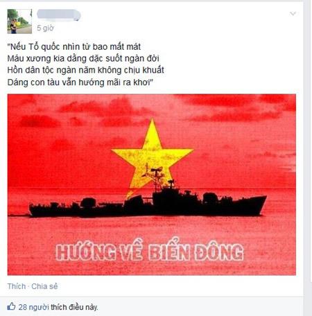 Biển Đông, cộng đồng mạng, avatar, Facebook, giới trẻ