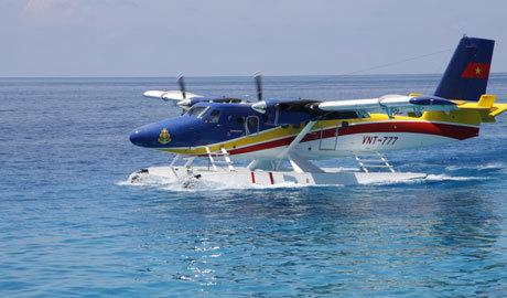 Cận cảnh, thủy phi cơ, DHC 6, luyện tập, Trường Sa Lớn