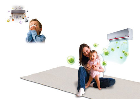 Cách dùng máy điều hòa nhật để trẻ không bị ốm2