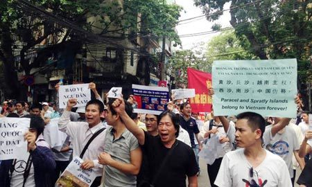 giàn khoan, Trung Quốc, diễu hành, chủ quyền