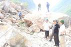 Sạt lở đá, một người chết, 9 người bị thương, mất tích