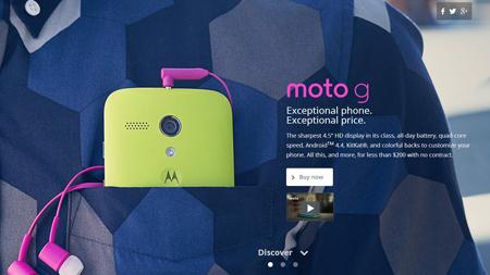 Chiếc Motorola Moto G có loa thoại khá to