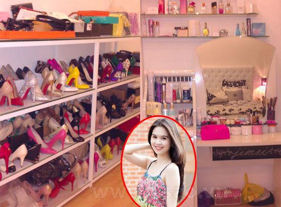 Xem tủ giày hàng hiệu của Ngọc Trinh, Mai Phương Thúy