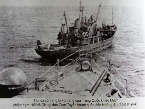 Trung Quốc cưỡng chiếm trái phép Hoàng Sa