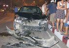 Giám đốc lái xe Camry húc tung 4 xe máy, 6 người nhập viện