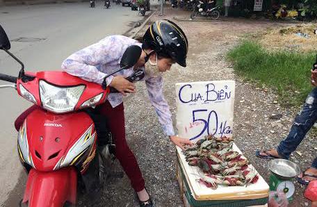 Cua biển nằm ngửa, 50 nghìn/kg tràn vỉa hè Hà Nội