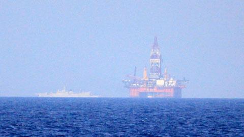 Nhiều tàu quân sự TQ ở lì Hoàng Sa