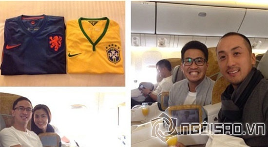Hà Tăng cùng chồng sang Brazil xem World Cup