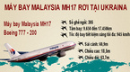 Infographic: Máy bay Malaysia rơi tại Ukraina, 298 người chết