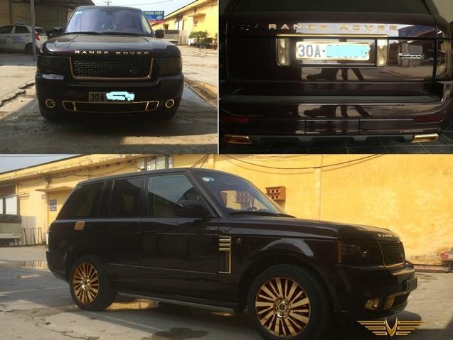 Đại gia đất Quảng mạ vàng Range Rover