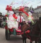 Rước dâu bình dị bằng xe ngựa xôn xao dân mạng