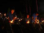 Hàng ngàn ngọn nến tri ân liệt sỹ tại Vị Xuyên
