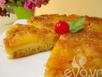 Thưởng thức bánh dứa úp ngược thơm ngon