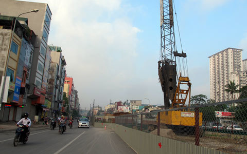 đường sắt, trên cao, cát linh, Hà Đông, chậm tiến độ, Hà Nội