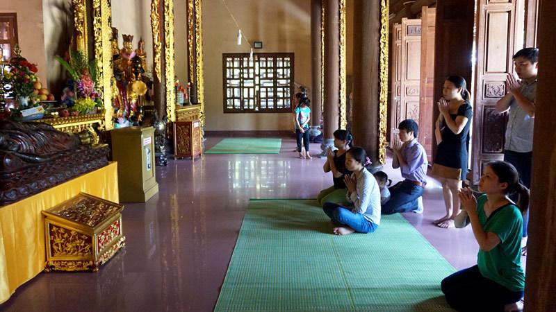 Lễ Vu lan ở chùa Bồ Đề