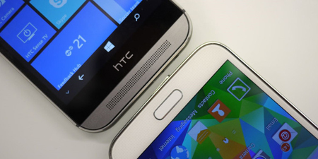 HTC One M8 Windows đọ Galaxy S5: Ai hơn ai?