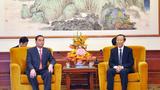 Ông Lê Hồng Anh tiếp Phó chủ tịch Chính hiệp TQ