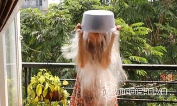 Ngân Khánh bị 'ném đá' khi khoe ảnh dội nước đá lên đầu