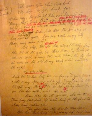 Triển lãm bút tích Hồ Chí Minh trên bản Di chúc