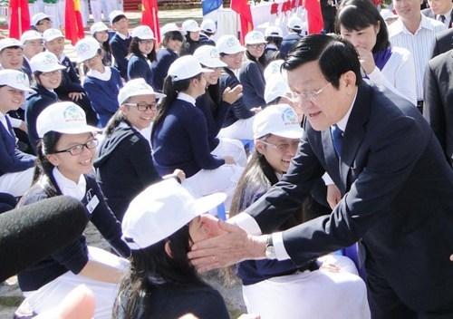 Chủ tịch nước, Trương Tấn Sang, năm học mới, giáo dục