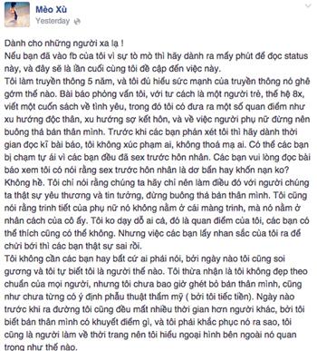 Mèo Xù, Facebook , xấu, Sex