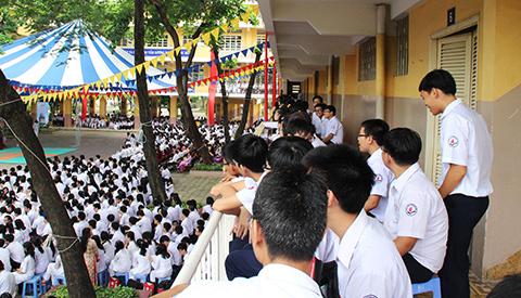Khai giảng, THCS Nam Từ Liêm, GS Nguyễn Thiện Nhân