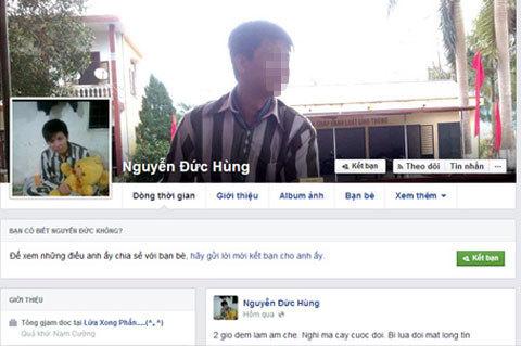 Phạm nhân vô tư dùng Facebook khoe ảnh sống trong tù?