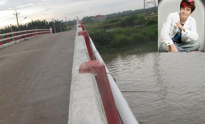 Thi thể nam ca sĩ Hồ Duy Minh nằm dưới chân cầu