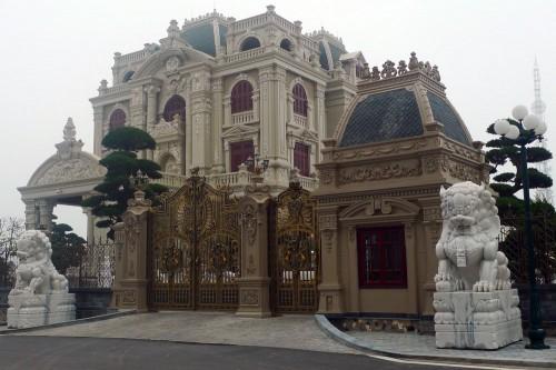 lâu-đài, dinh-thự, Nam-Định, dát-vàng, biệt-thự