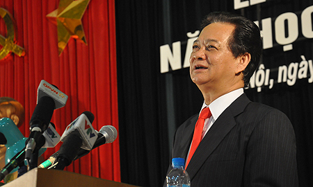 Thủ tướng đi khai giảng ở Học viện Quốc phòng