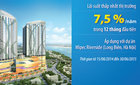 Sở hữu căn hộ Mipec, lãi suất vay chỉ 7,5%/năm