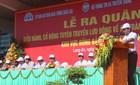 Diễu hành cổ động ATGT tại Đồng bằng sông Cửu Long