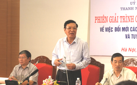 Bộ trưởng Luận 'thi vấn đáp' về kỳ thi quốc gia