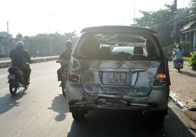 7 ôtô đâm liên hoàn gần cao tốc Trung Lương