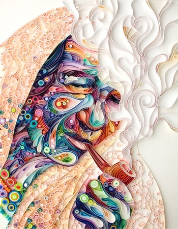 Yulia Brodskaya, xếp giấy, nghệ thuật, Moskva, nghệ sĩ