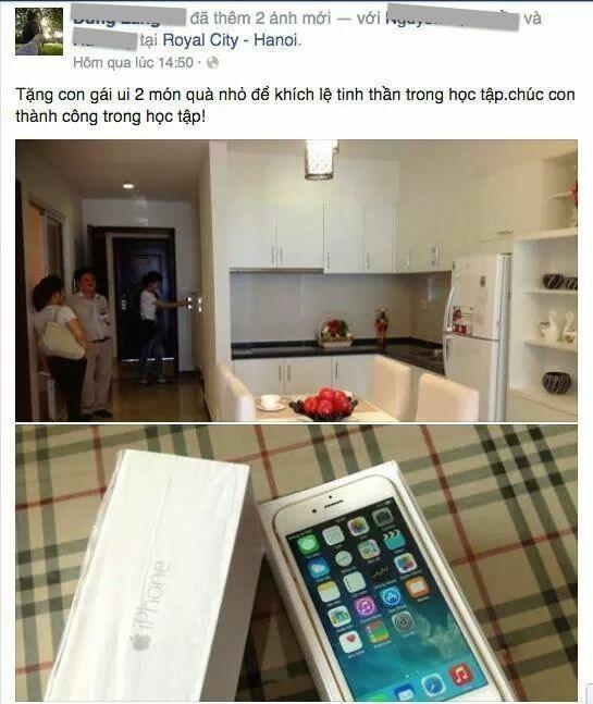 Con đậu đại học: Bố tặng căn hộ, iPhone 6, hứa mua ô tô