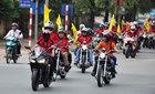 Dàn xe mô tô khuấy động đường phố Hà Nội