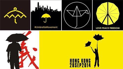 Hong Kong, ô, biểu tình, biểu tượng