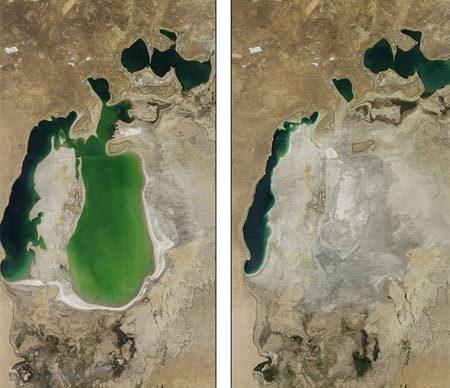 Sự biến mất gây sửng sốt của biển hồ lớn thứ 4 thế giới