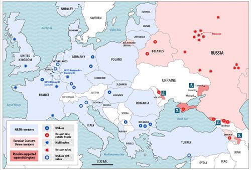 Bàn cờ địa chính trị Nga – NATO tại châu Âu