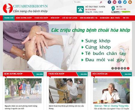 Ra mắt website chuyên về bệnh xương khớp