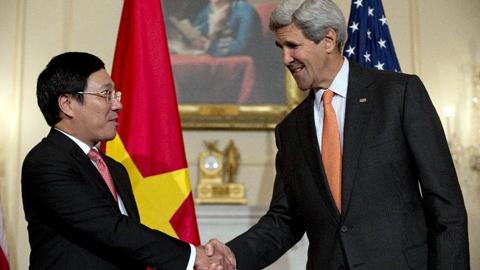 vũ khí, Mỹ, Phạm Bình Minh, John Kerry, Biển Đông