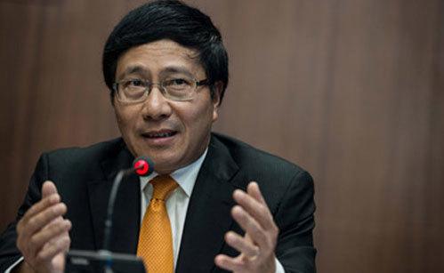ASEAN, Mỹ, TPP, đối tác toàn diện, Phó Thủ tướng, Phạm Bình Minh