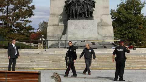 Xả súng ngay ở khu nhà quốc hội Canada
