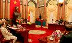 Chủ tịch nước gặp mặt cựu chiến binh Sư đoàn 1 anh hùng